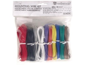 Velleman - Mounting Wire Kit, 10 Colours, 60m, Multicore (K/MOW) | Dodax.com