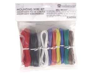 Velleman - Mounting Wire Kit, 10 Colours, 60m, Full Core (K/MOWM) | Dodax.com