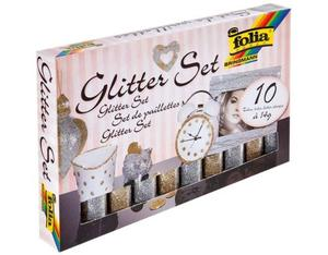 Folia Glitterset Pulver gold/silber | Dodax.co.uk