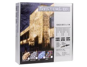 System LED Lichterkette Icicle 2x1m | Dodax.ch
